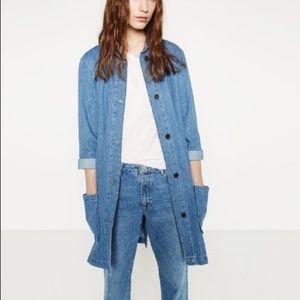 Zara The Levita Blue Denim Jacket